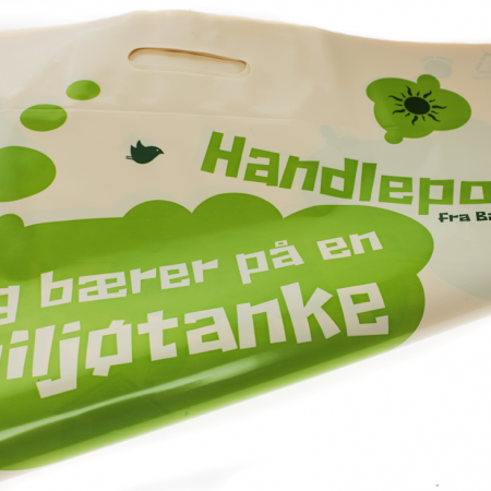 Alternativ til papirposer, handlenett og engangsposer.
