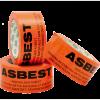 Innpakking av asbestholdige byggevarer.