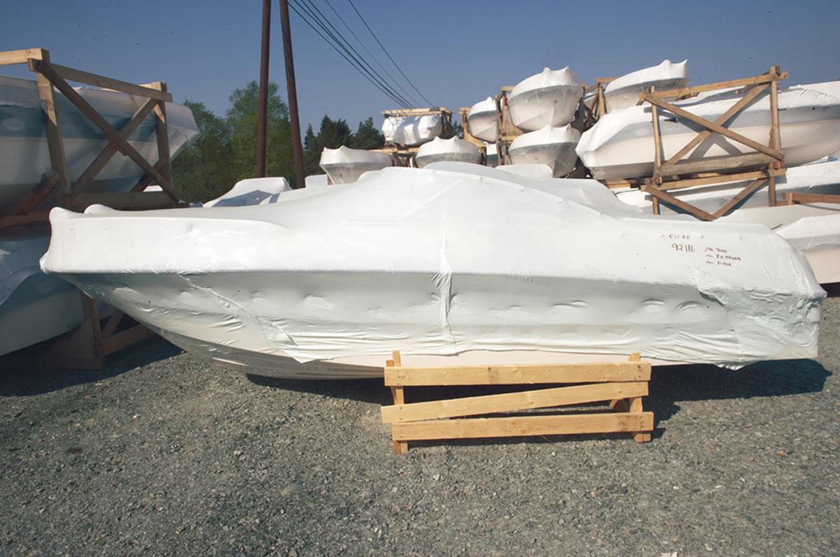 Vi produserer båtfolie i krympekvalitet. Folien lagerføres i ulike dimensjoner.