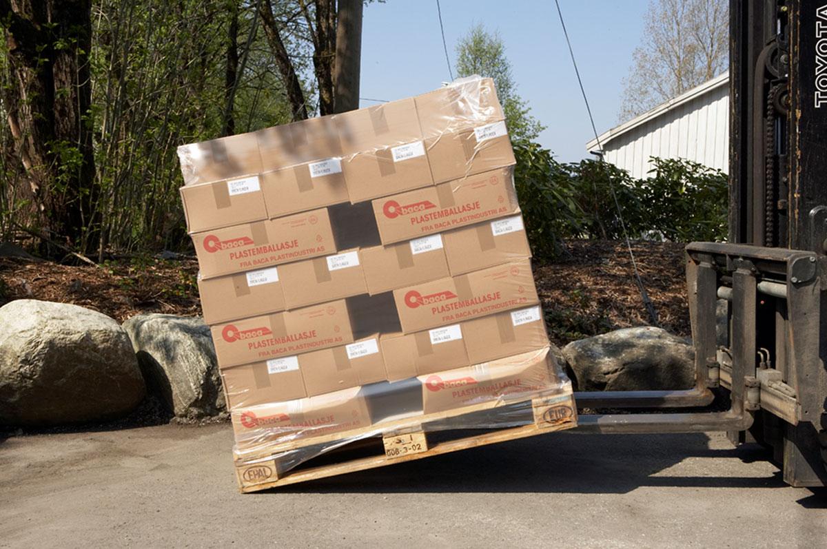 Pallehetter egner seg godt på paller med tyngre produkter med ulik form.