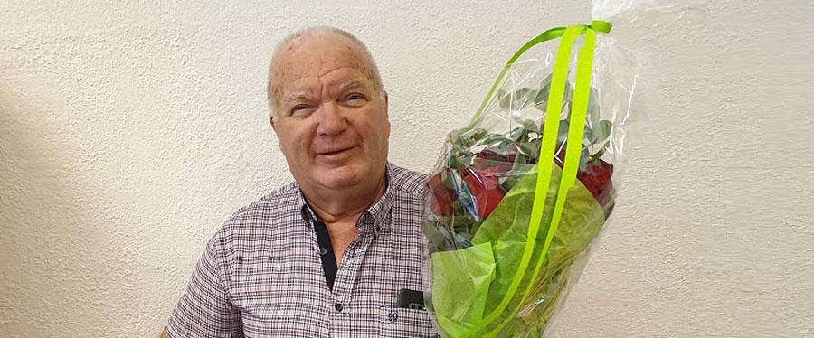 Etter 40 år som selger ved Baca så har han nå gått over i pensjonistenes rekker.